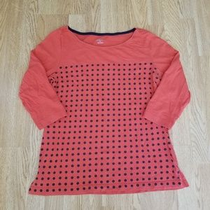Merona Polka Dot 3/4 Sleeve Blouse